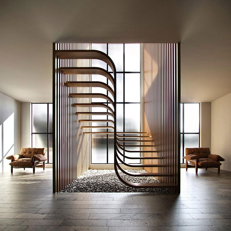 duplex stairs designed by eisa ghasemian 3 These Floating Duplex Stairs by Eisa Ghasemian are Stunning