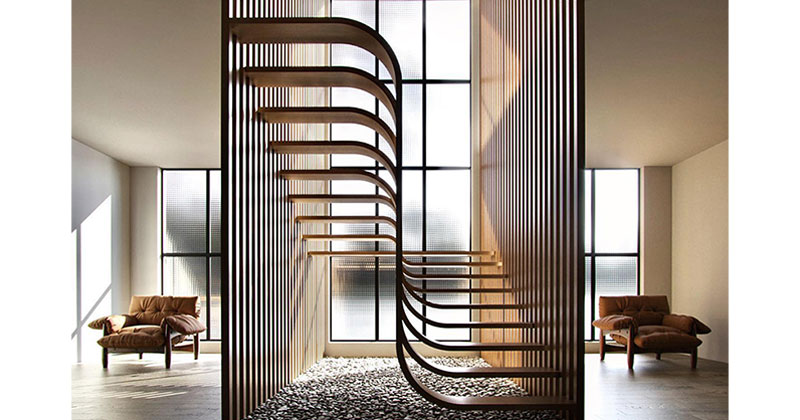 These Floating 'Duplex Stairs' by Eisa Ghasemian areStunning