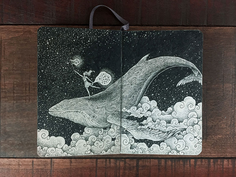 kerby rosanes sketchbook illustrations 1 Kerby Rosanes Sketchbooks are Beautiful Works of Art Unto Themselves
