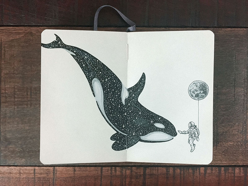kerby rosanes sketchbook illustrations 19 Kerby Rosanes Sketchbooks are Beautiful Works of Art Unto Themselves