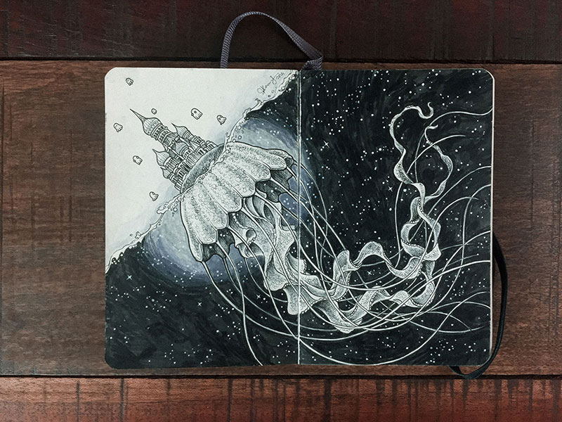 kerby rosanes sketchbook illustrations 20 Kerby Rosanes Sketchbooks are Beautiful Works of Art Unto Themselves