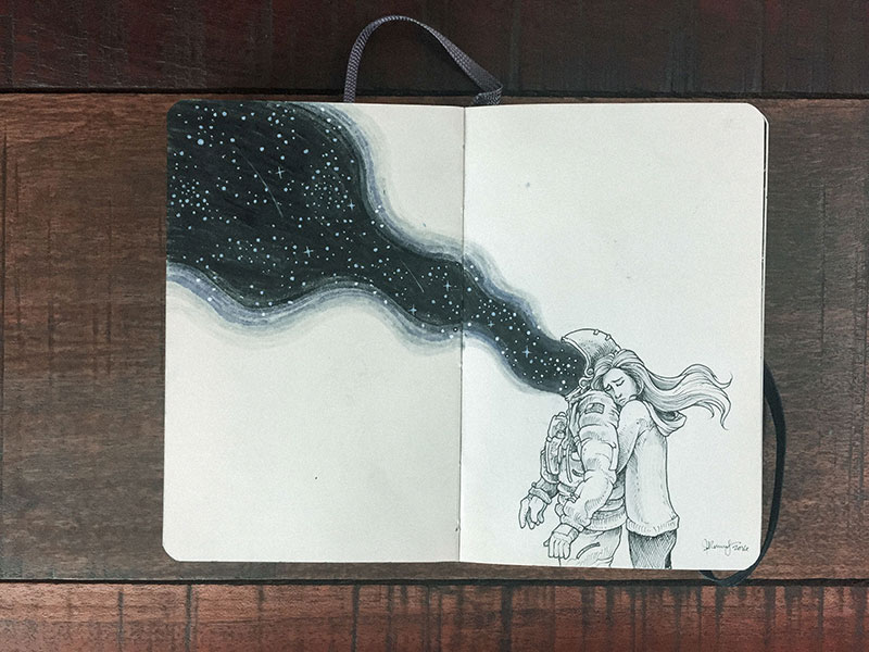 kerby rosanes sketchbook illustrations 21 Kerby Rosanes Sketchbooks are Beautiful Works of Art Unto Themselves