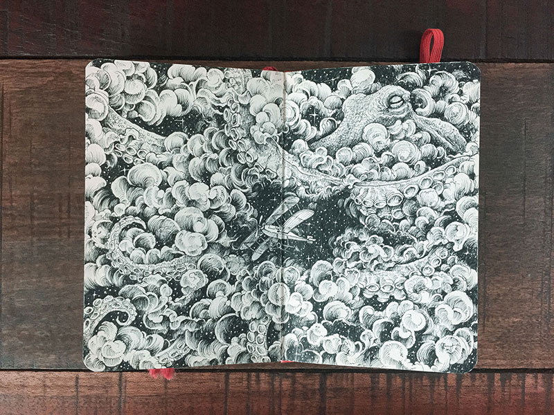 kerby rosanes sketchbook illustrations 4 Kerby Rosanes Sketchbooks are Beautiful Works of Art Unto Themselves