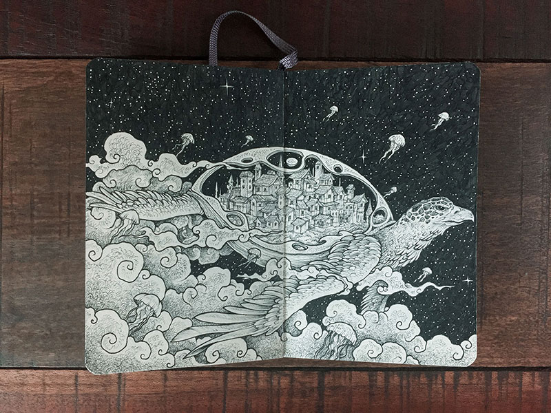 kerby rosanes sketchbook illustrations 5 Kerby Rosanes Sketchbooks are Beautiful Works of Art Unto Themselves