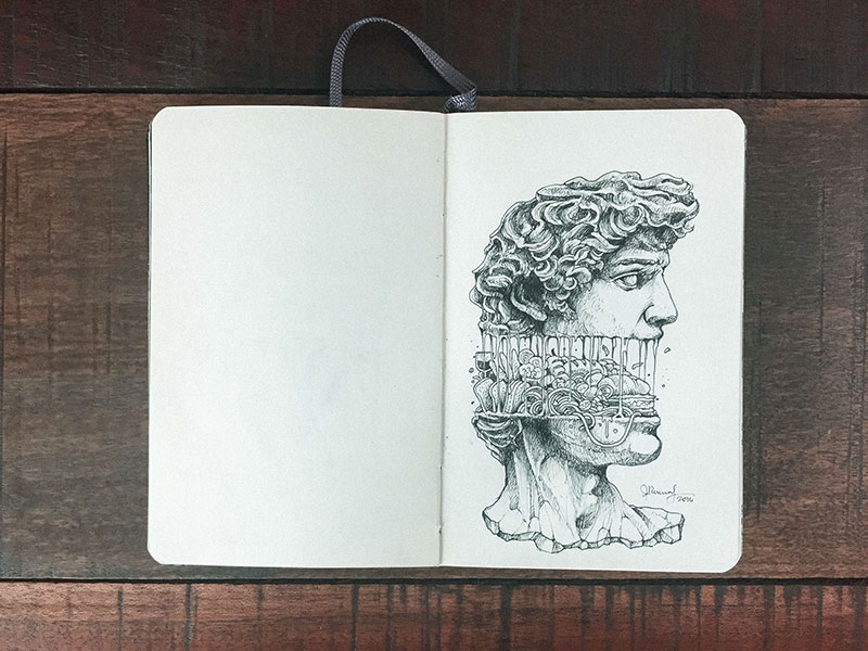 kerby rosanes sketchbook illustrations 6 Kerby Rosanes Sketchbooks are Beautiful Works of Art Unto Themselves