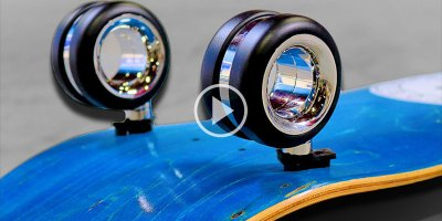 Putting Apple's $700 Computer Wheels on a Skateboard and Trying a Kickflip