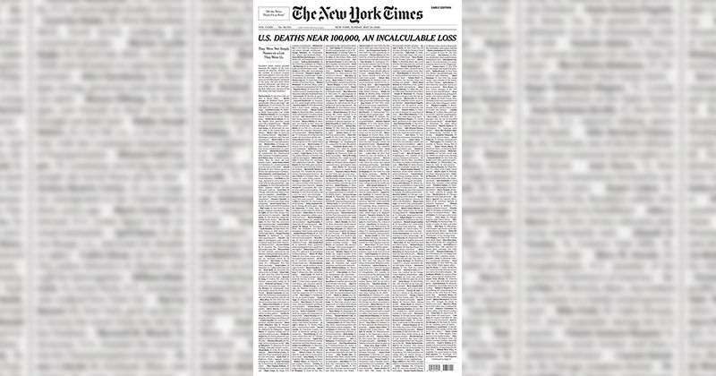 This Was the Front Page of the Sunday Edition of the New YorkTimes