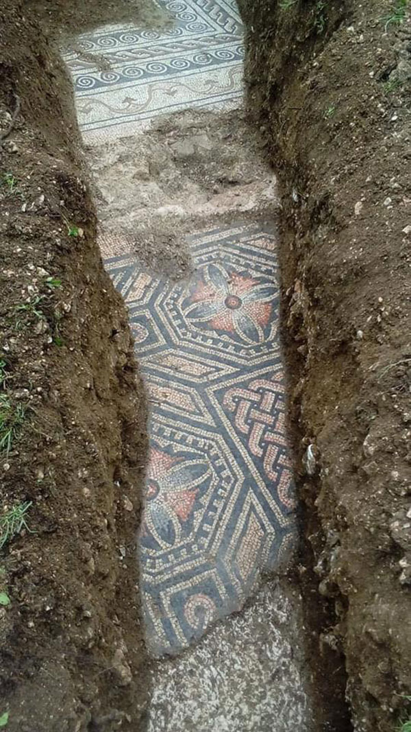3rd century roman mosaic discovered under vineyard in italy 3 Stunning 3rd Century Roman Mosaic Discovered Under Vineyard in Italy