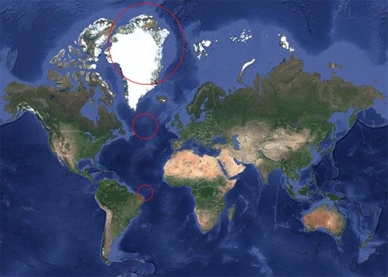 every circle on this map has same radius Every Circle on This Map Has the Same 500 Mile Radius