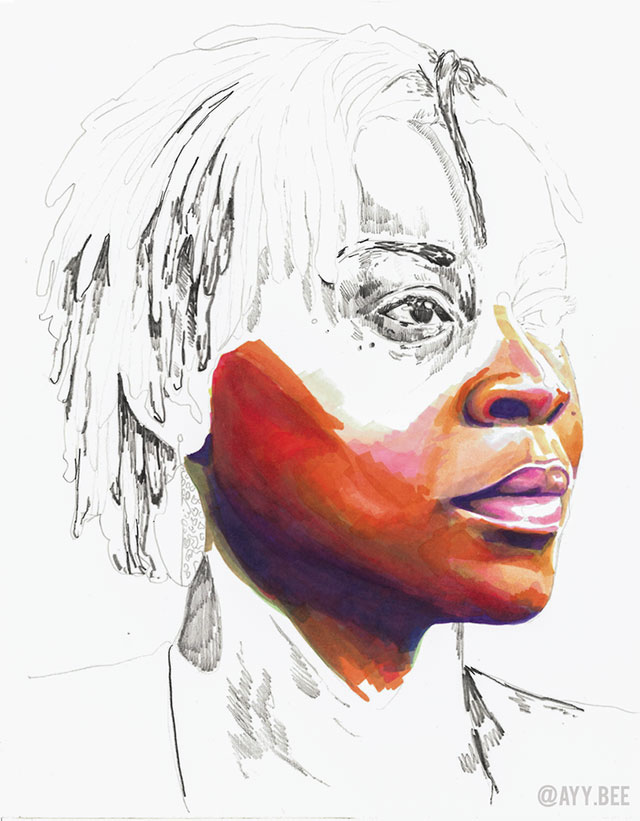 stolen portraits by adrian brandon 7 Artist Channels Grief Into Unfinished Portraits Where 1 Year of Life = 1 Minute of Color