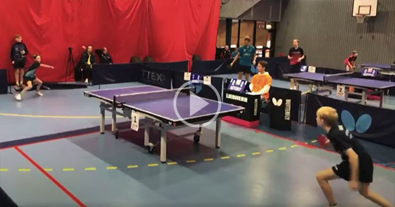 A Table Tennis Rally So Good Even the Other Players Stopped to Watch
