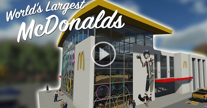 So the World's Largest McDonald's is Crazy (and Serves Pizza and Pasta)