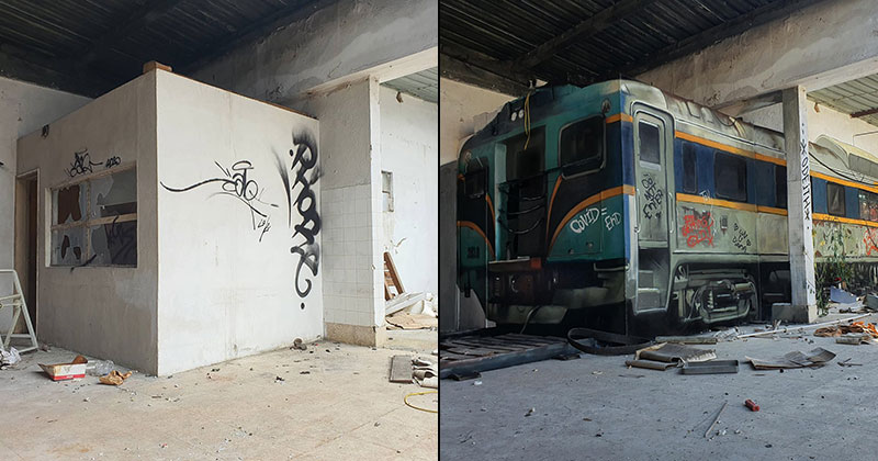 3d street art train by odeith 9 A Little Paint Can Turn This Into That