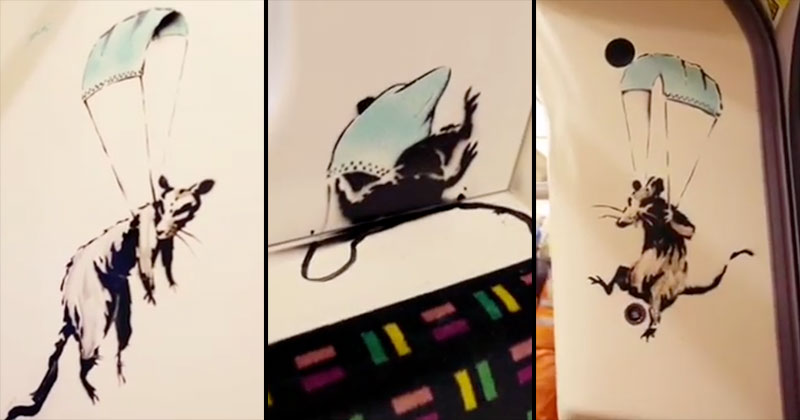 """I get lockdown. But I get up again"" – Banksy Strikes London Tube with Mask Message"