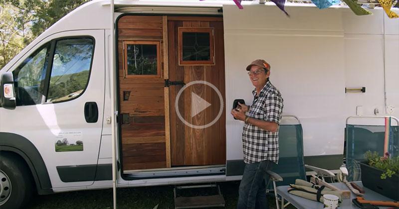 Clare's Camper Van Home is the Coziest One I'veSeen