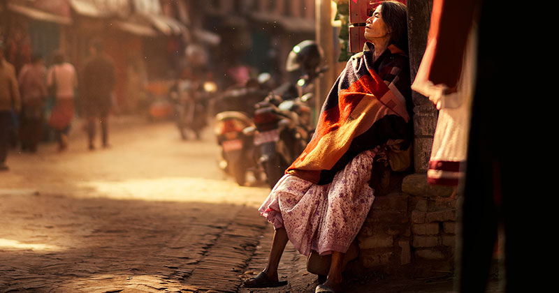 The Lighting in this Kathmandu Street Photography Series is Beautiful
