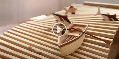 This Wooden Kinetic Wave Sculpture is Soothing toWatch