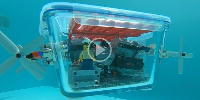 Guy Builds Awesome Glass Submarine with Lego and Neodymium Magnets
