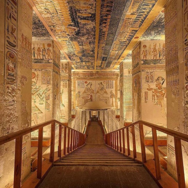 pharaoh ramesses vi tomb virtual tour egypt valley of kings 1 You Know those Virtual House Tours? Heres One for the Tomb of Ramesses VI in the Valley of Kings