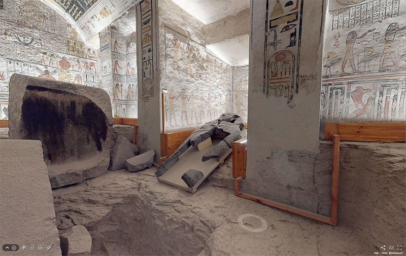 pharaoh ramesses vi tomb virtual tour egypt valley of kings 10 You Know those Virtual House Tours? Heres One for the Tomb of Ramesses VI in the Valley of Kings