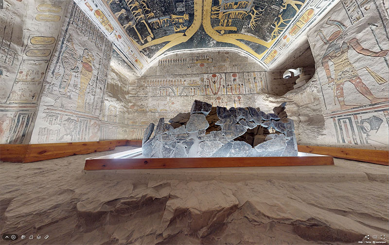 pharaoh ramesses vi tomb virtual tour egypt valley of kings 11 You Know those Virtual House Tours? Heres One for the Tomb of Ramesses VI in the Valley of Kings