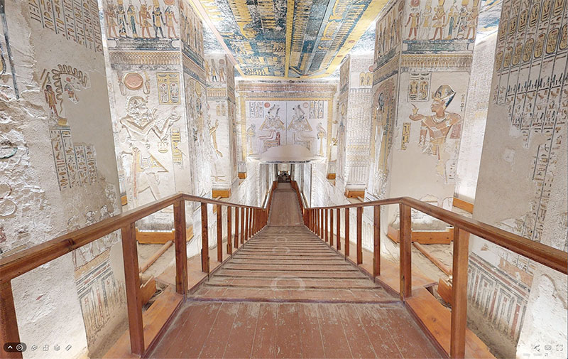 pharaoh ramesses vi tomb virtual tour egypt valley of kings 5 You Know those Virtual House Tours? Heres One for the Tomb of Ramesses VI in the Valley of Kings