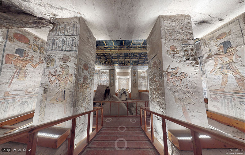 pharaoh ramesses vi tomb virtual tour egypt valley of kings 7 You Know those Virtual House Tours? Heres One for the Tomb of Ramesses VI in the Valley of Kings