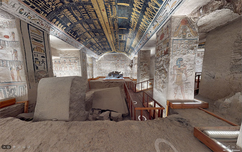 pharaoh ramesses vi tomb virtual tour egypt valley of kings 9 You Know those Virtual House Tours? Heres One for the Tomb of Ramesses VI in the Valley of Kings