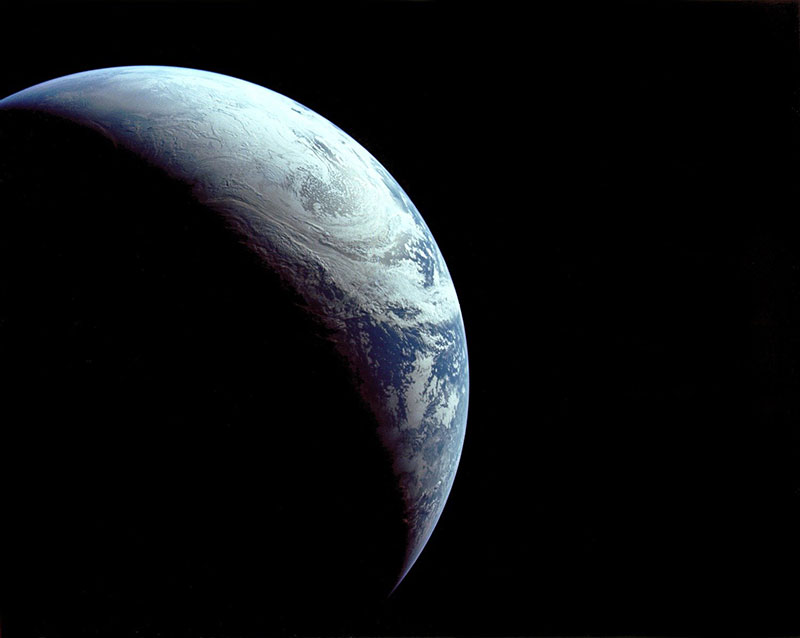 photo of earth from space 1967 apollo 4 Just a Beautiful Photo of Earth Taken in 1967 from 18,000 km Away