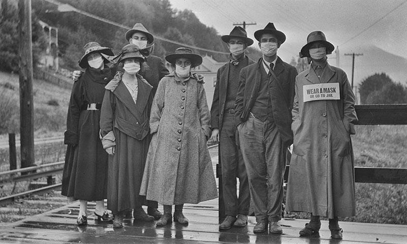 "wear a mask sign spanish flu 1918 California, 1918, During 2nd Wave of Spanish Flu. ""Wear a Mask or Go to Jail"""