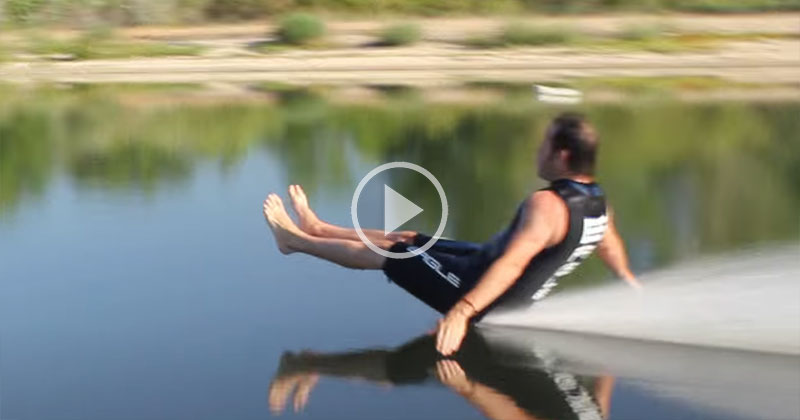 Barefoot Water Skier Makes Smoothest Exit of All Time