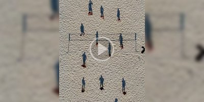 This Overhead Video of a Beach Volleyball Game Looks Like ShadowsPlaying