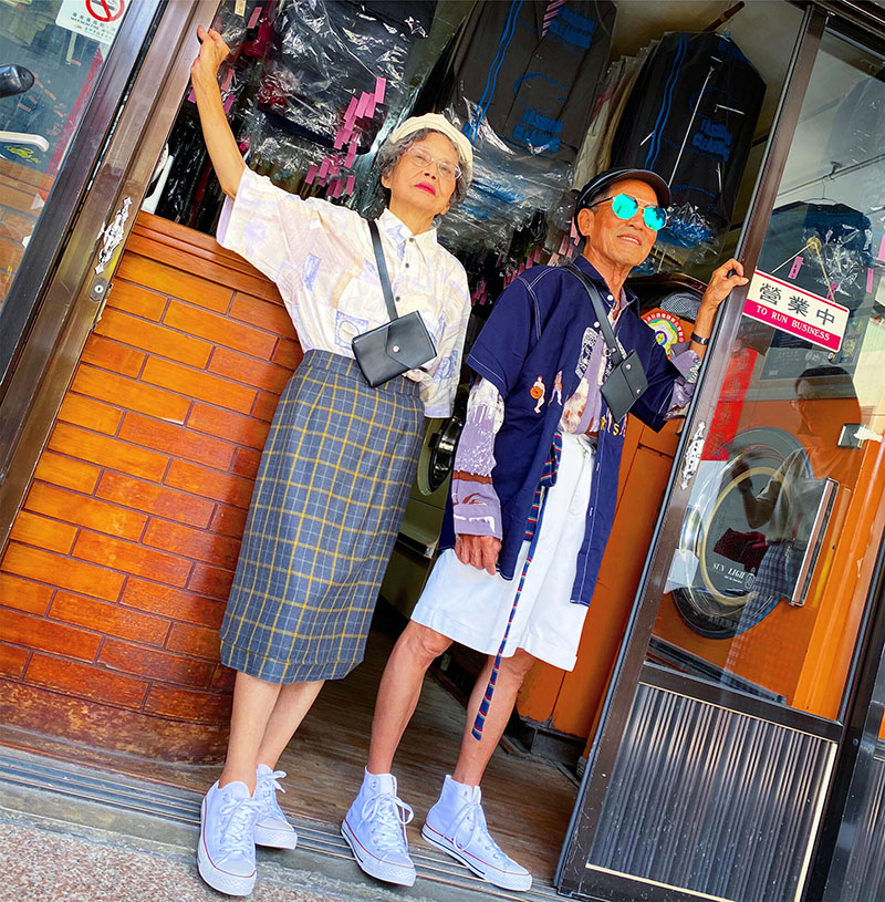 elderly couple model clothes left at their laundromat 5 Married For 60 Years, This Couple Finds Fun Modelling Clothes Left at Their Laundromat