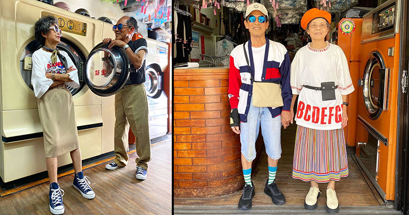 Married For 60 Years, This Couple Finds Fun Modelling Clothes Left at Their Laundromat