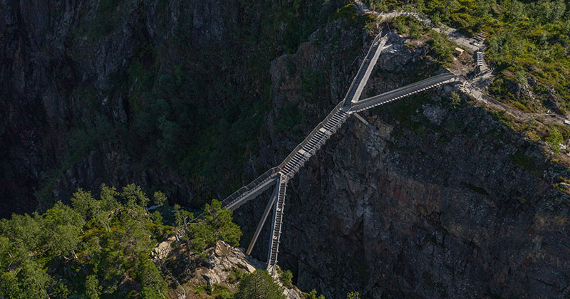 Norway Just Built a 99-Step Bridge Over Their Most Iconic Waterfall