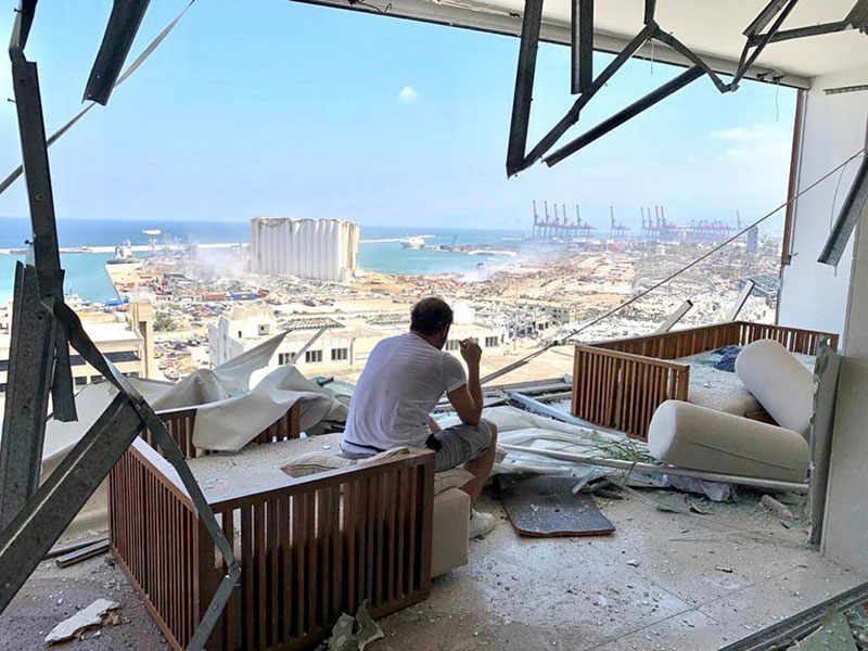 penthouse view of beirut explosion 2020 lebanon adel karam The Day After