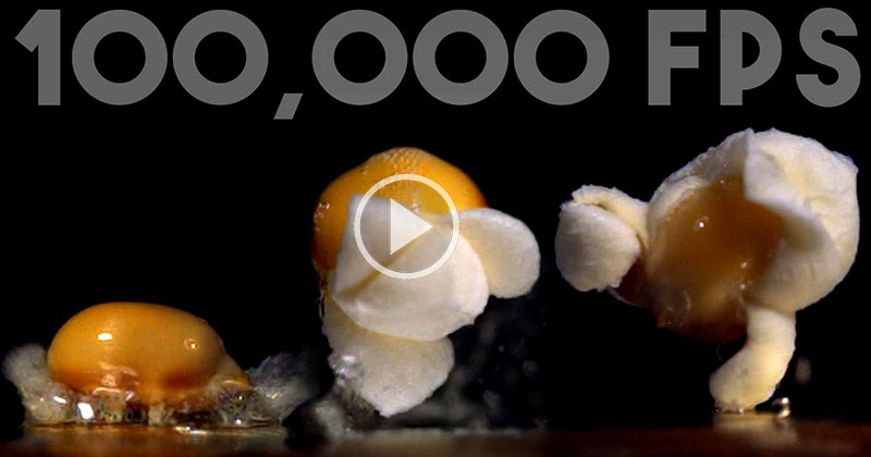 Everything Looks Cooler in Slow Motion, Like Popcorn Popping at 100,000FPS
