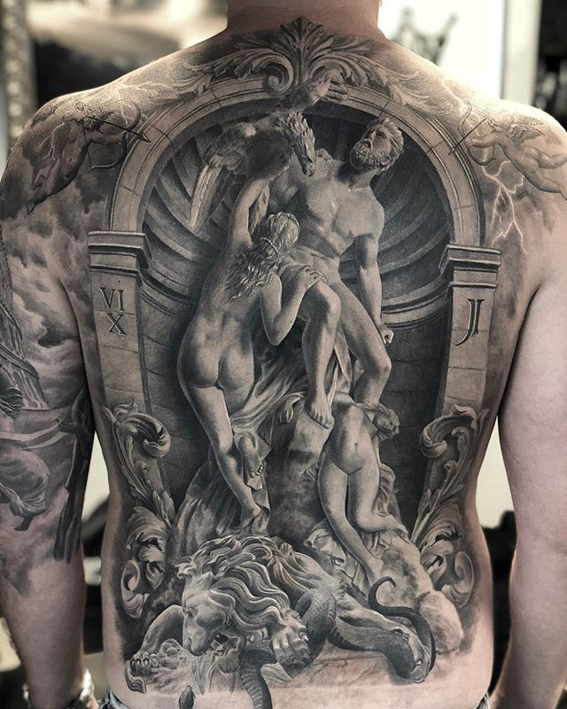 ancient greek and roman art tattoos by mr t stucklife 4 These Ancient Greek and Roman Art Tattoos are Amazing
