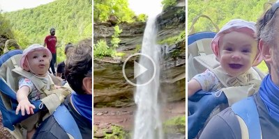 This Baby's Reaction to Seeing Her First Waterfall Will Brighten Your Day