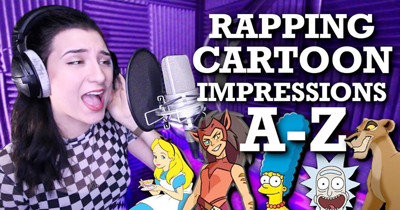 Voice Actor Raps A-Z with a Different Cartoon Impression for Every Letter