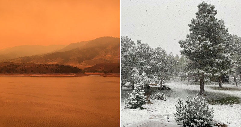 colorado heatwave to snowstorm 1 Colorado Just Went from a 100°F Heatwave to a 12 Snowstorm in 48 Hours