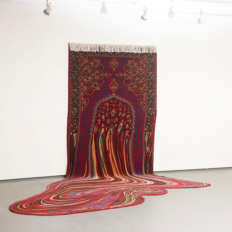 melting glitch rug by faig ahmed 1 1 This Melting Glitch Rug by Faig Ahmed is Incredible