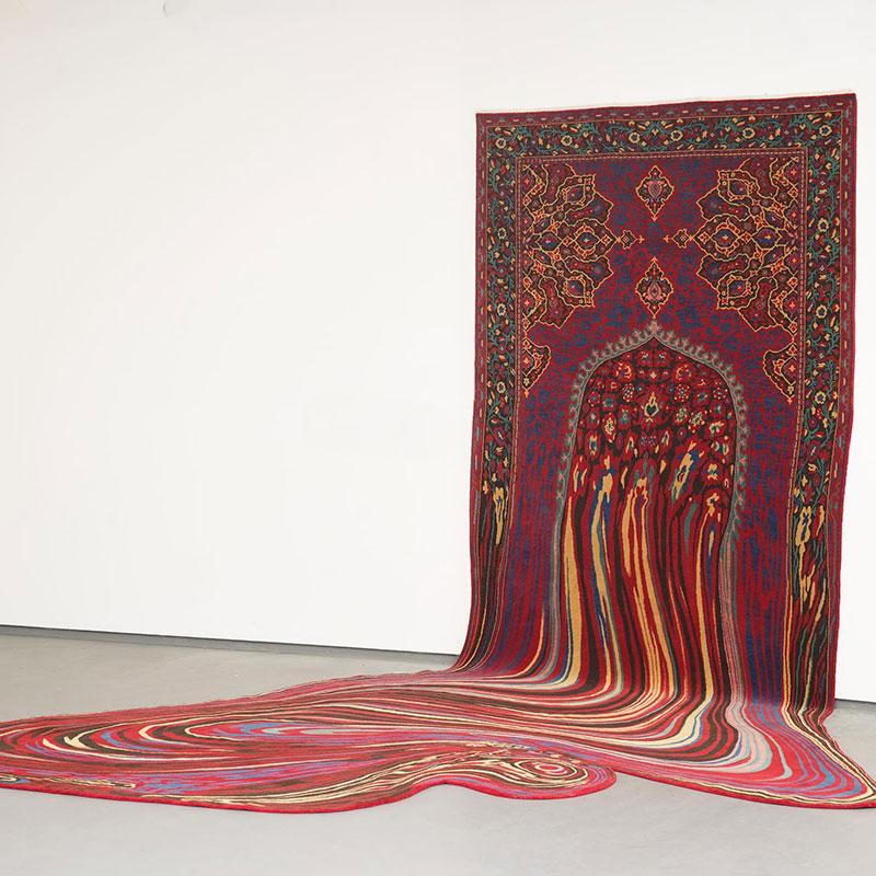 melting glitch rug by faig ahmed 2 1 This Melting Glitch Rug by Faig Ahmed is Incredible