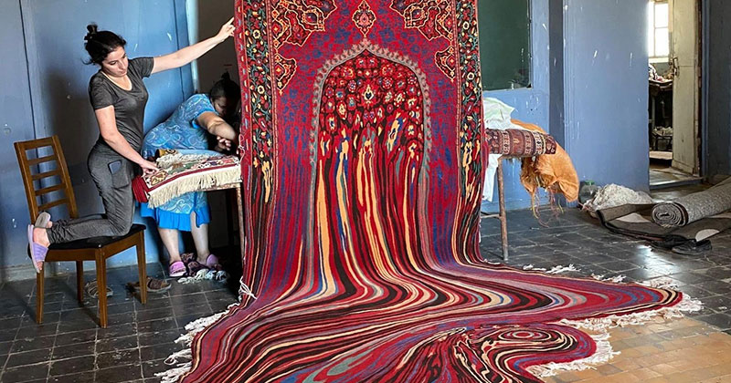 This Melting Glitch Rug by Faig Ahmed is Incredible