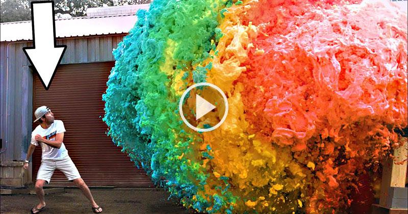 World's Largest Devil's ToothpasteExplosion