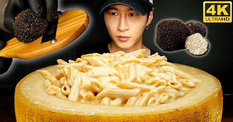 Gourmet Cheese Wheel Mac and Cheese But Make itASMR