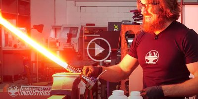 These Guys Made a Retractable Plasma Lightsaber and the Build isInsane!