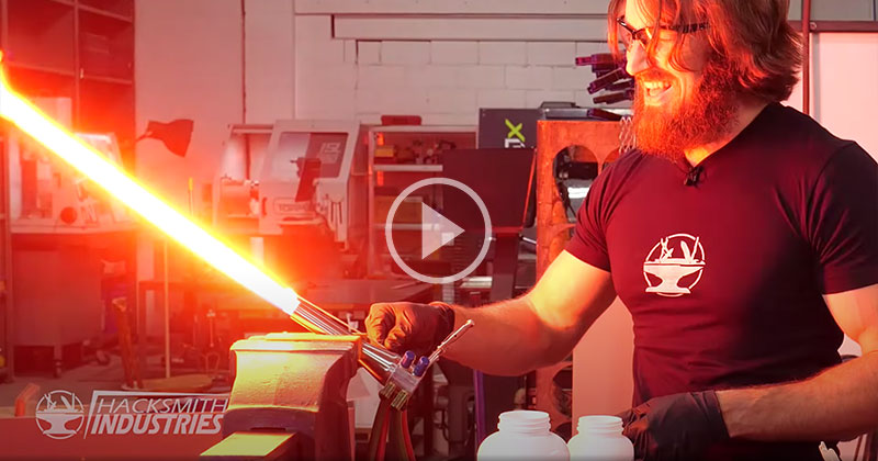 These Guys Made a Retractable Plasma Lightsaber and the Build is Insane!