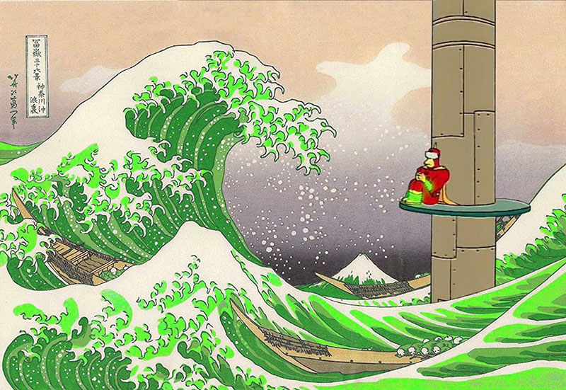 simpsons fine art photoshops 1 An Introduction to Fine Art Through Funny Simpsons Mashups