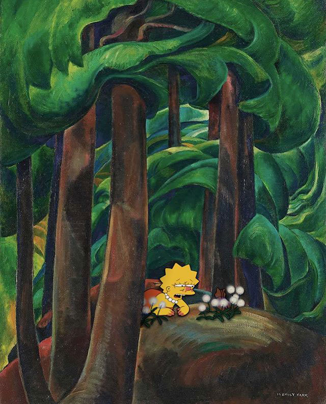 simpsons fine art photoshops 10 An Introduction to Fine Art Through Funny Simpsons Mashups